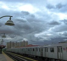 Subway on a cloudy day, New York City by Alberto  DeJesus