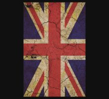 Cracked Britannia UK Union Jack Flag Upright by Steve Crompton