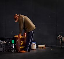 The Busker Prepares by Kris Montgomery