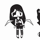 3 Black and White Characters by SMontoya
