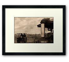 """ Smoke on the Field "" Framed Print"