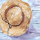 Still in straw hat and brown pants by Maree  Clarkson