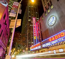 Radio City Road by night (New York City) by André Rizzotti