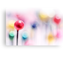 A pincushion in a very colorful mood... Canvas Print