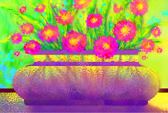Flowers in My Window with Sunshine by luvapples downunder/ Norval Arbogast