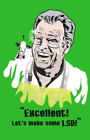 "Walter Bishop - ""Excellent! Let's make some LSD!"" Green iPhone Case by godgeeki"