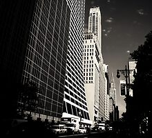 The Grace Building and the Chrysler Building - View from 42nd Street - New York City by Vivienne Gucwa