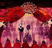The final bow. watercolor by Anna  Lewis