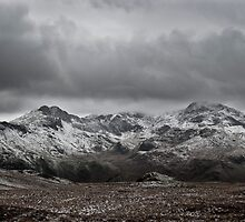 Snowdon Massif - Snow in February  by Jonathan Marsh