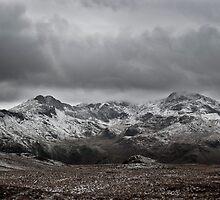 Snowdon Massif - Snow in February  by Jonathan Marsh