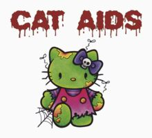 Cat Aids Zombie Kitty by lysdexia