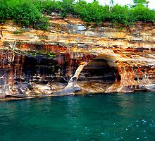 Pictured Rocks 9 by Debbie  Maglothin