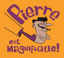 Pierre est Magnifique - cartoon drawing of trapeze artist with handsome mustache by diabolickal plan