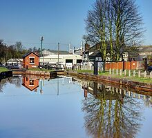 Canal Lock with Reflections by Phill Sacre