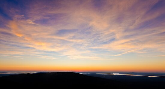 Cadillac Mountain Sunset.4 - Acadia NP, Maine by Jason Heritage