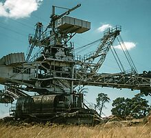 Self propelled Brown coal dredge Morwell 1959 01100004 by Fred Mitchell