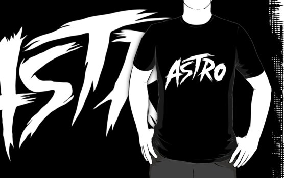 White Logo Tee (black) by AstroClothing