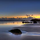 Kirra Beach at Daybreak by Nick Peters