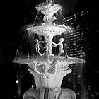 Fountain BW by DavidsArt
