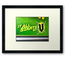 It began with redbubble...... Framed Print