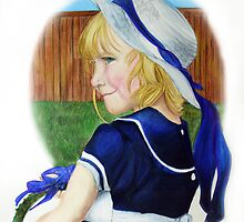 """Royall"" Blue Flower Girl by Jewel  Charsley"