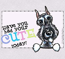 Schnauzer Cute Today Any Occasion Card by offleashart