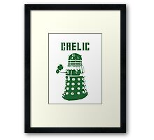 Gaelic Dalek Framed Print