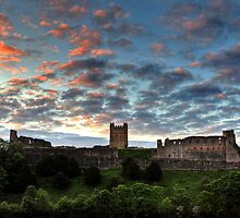 Sunset Over Richmond Castle by Mat Robinson