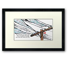The Wind Hums and Listens (a tribute to Ray Bradbury) Framed Print