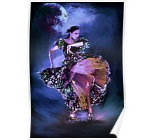 Flamenco in the moonlight Poster