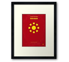 No113 My Iron man minimal movie poster Framed Print