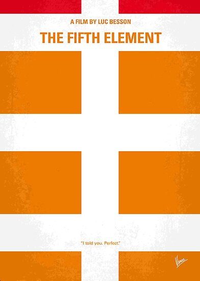 No112 My Fifth Element minimal movie poster by Chungkong