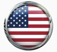 United States Glass Flag by 3Dflags