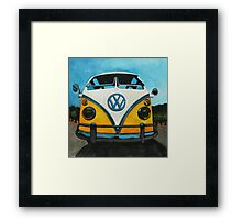 Wee Yellow Camper Framed Print