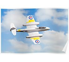 Gloster Meteor T7 Poster