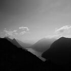Lake Lugano east side by bartfrancois