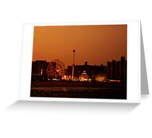 Coney Island at Sunset - Brooklyn - New York City Greeting Card