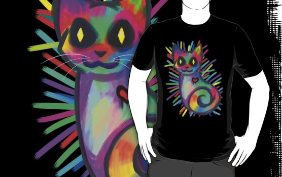 Colorful Cat by SantiDog