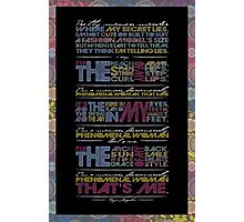 Phenomenal Woman By Maya Angelou - Typographic Poster Photographic Print