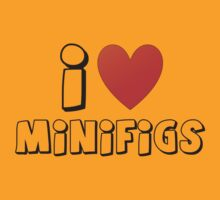 I Love Minifigs T-Shirt by Customize My Minifig by ChilleeW