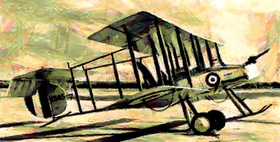 "Vickers F.B.5 Gunbus - the ""Destroyer"" 1913 by Dennis Melling"