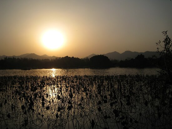 Sunset over West Lake by dher5