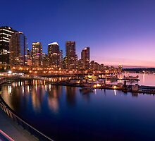 Coal Harbour Sunset by Mirco Millaire