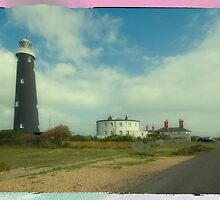 Dungeness Lighthouses  by Nigel Bangert