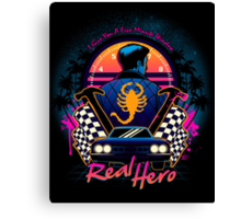 Real Hero Canvas Print