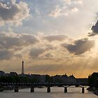 Sunset Over Paris by Joe Rivera
