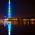 TV tower reflection by Jeffrey So