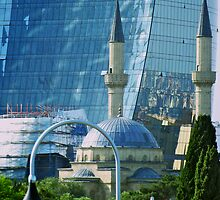 Old and New, Baku, Azerbaijan by Lisa Hafey