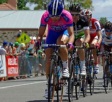 Intermediate sprint in Mount Torrens, Stage 2, Tour Down Under 2012 by Steven Weeks