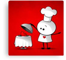Cute Chef Canvas Print